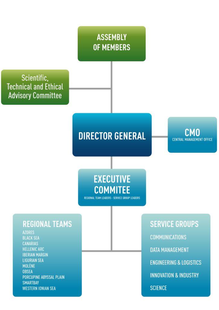 EMSO ERIC organizational chart